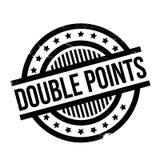 Dubbele Punten rubberzegel Stock Foto's