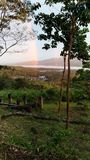 Dubbele regenbogen Stock Afbeeldingen