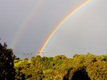 Dubbele regenboog Royalty-vrije Stock Afbeeldingen