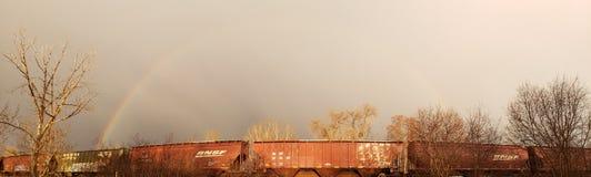 Dubbele regenboog 2 voor 1 royalty-vrije stock foto