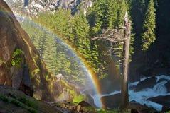 Dubbele Regenboog in Yosemite Stock Fotografie