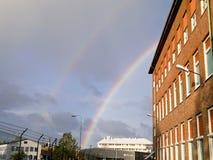 Dubbele regenboog - Zweden Royalty-vrije Stock Fotografie