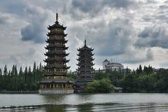 Dubbele toren Royalty-vrije Stock Afbeelding