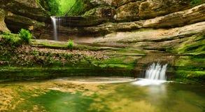 Dubbele waterval royalty-vrije stock afbeelding