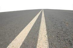 Dubbele witte lijnen Stock Fotografie