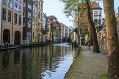 Dubbelsidiga invallningar av Utrecht Royaltyfria Bilder