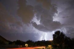 dubbelt blixtslag Arkivbilder