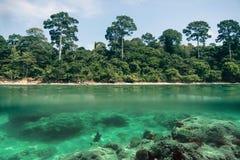 Dubbelt landskap blå havssky arkivbilder