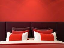 dubbelt modernt för sovrum Arkivbild