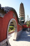 dubbelt pagodatempel Arkivbilder