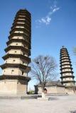 dubbelt pagodatempel Royaltyfri Fotografi