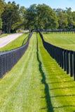 Dubbelt staket på hästlantgården Royaltyfria Bilder
