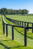 Dubbelt staket på hästlantgården Arkivbilder