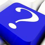 Dubbio di Mark Key Shows Help And di domanda Fotografia Stock
