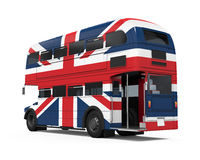 Dubbla Decker Bus Britain Flag Royaltyfri Fotografi