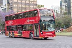 Dubbla Decker Metrobus - Mexico - stad Royaltyfri Fotografi