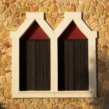 dubbla fönster Arkivbild