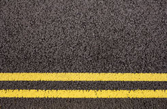 Dubbla gula linjer Royaltyfri Fotografi