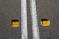 dubbla linjer väg Royaltyfri Foto