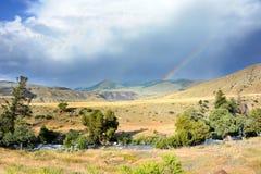 Dubbla regnbågeformer Arkivfoton