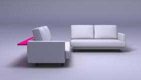 dubbla sofas Royaltyfri Foto