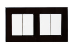 Dubbla vita switchers av hem- belysning Arkivfoton