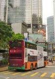 Dubblett-däck bussspring i Hong Kong royaltyfri bild