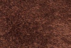 Dubblett sid för tygtextur för frottén towelling bakgrund Brunt Co Arkivbild