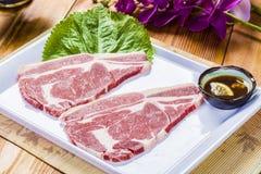 Dubblettstycken av nötkött arkivfoto