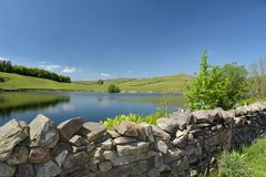Dubbs reservoir in Troutbeck Valley Stock Image