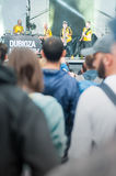 Dubiosa Kolektiv and crowd Royalty Free Stock Image