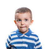 Dubious little boy Royalty Free Stock Photos