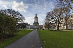 DUBLÍN - 12 DE ENERO: Universidad de la trinidad el 12 de enero de 2015, Dublín Fotos de archivo libres de regalías