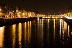 Dublín de Night Imagen de archivo libre de regalías