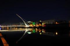 Dublín en la noche Fotografía de archivo