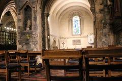 DUBLÍN, IRLANDA - 22 de febrero de 2018: Interior de la iglesia de Cristo el 22 de febrero en Dublín La iglesia de Cristo es la c foto de archivo libre de regalías