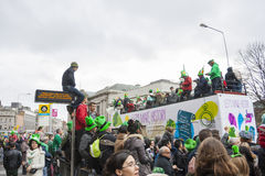 DUBLÍN, IRLANDA - 17 DE MARZO: Desfile del día de St Patrick en Dublín Imagen de archivo