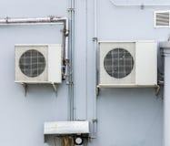 Duble空气压缩机单位 免版税库存照片