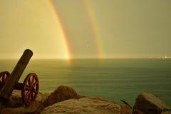 Duble-Regenbogen stockfotos