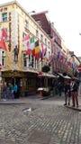 Dublin, Środkowy teren Blisko do Tradycyjnego świątynia baru, Obrazy Royalty Free