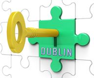 Dublin Apartments Key Depicts Irish Condo Real Estate Buying - 3d Illustration
