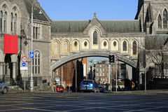 Dublin arch of the Church of Christ. Ireland square pavers Christianity Royalty Free Stock Photo