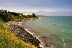 Dublin Bay. Rocky shore near Dalkey, Dublin Bay, Ireland Royalty Free Stock Image