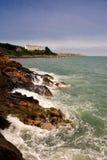 Dublin Bay. Rocky shore near Dalkey, Dublin Bay, Ireland Stock Images