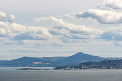 Dublin Bay and the Wicklow Mountains, Ireland Royalty Free Stock Photos