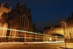 Dublin bij Nacht stock foto