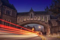 Dublin bij Nacht Stock Foto's