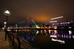 Dublin bij Nacht royalty-vrije stock afbeeldingen