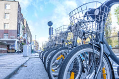 Dublin Bikes Royalty Free Stock Images