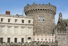 Dublin castle. Wall - old landmark in Irish capital city Royalty Free Stock Image
